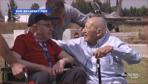 Sid Shafner, 94 and Marcel Levy, now 90 reunited again